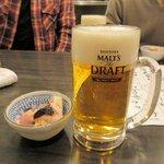 さかなの台所 オリエンタル - 生ビール&お通し2015.12.19