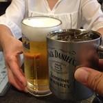 いわし舟 - H.27.8.25.夜 ハイボール vs 生ビール de 乾杯♪