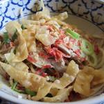 ライカノ - ライカノ(東京都足立区千住)汁無し麺,鶏肉トッピング735円
