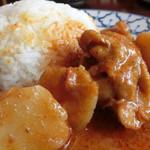 ライカノ - ライカノ(東京都足立区千住)煮込み鶏肉とジャガイモカレー850円