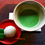 45681427 - 抹茶と柚子風味の上生菓子