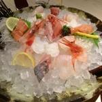 水魚 - お造り盛り合わせ(\1880)