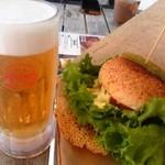 45683429 - チーズバーガーとオリオンビール♪