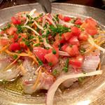 ラ クッチーナ ビバーチェ - 真鯛のカルパッチョ1200円