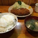 竹乃 - ロースかつ定食