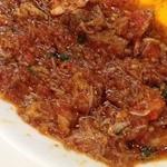 pizzeria felice - バジル香るオリーブ油たっぷりのせいこ蟹トマトソース
