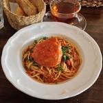 pizzeria felice - 2014年11月のランチのせいこ蟹トマトソースのスパゲッティ