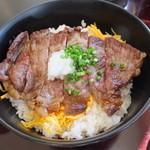 加賀屋 - ステーキ丼・大盛り 税込¥1400