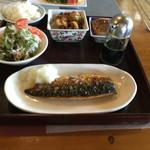 あるじゃんの森 - 塩サバ定食❤️すごく脂がのってて、副菜もとても美味しかったです!