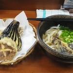 いちみ - いちみセット          (かけうどん小+天ぷら3種) 450円