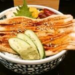 魚游 - 穴子丼(972円)
