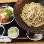 生そばあずま - 料理写真:かんぱち丼セット=950円 そば3玉です