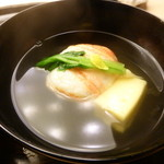 懐石料理 桝田 - お椀(蟹真丈)