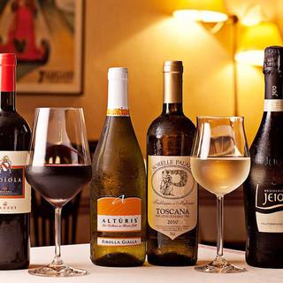 選び抜いたワインは50~60種以上常備