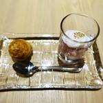 タストゥー - グジェール   ビーツのサラダ、鶉の卵のポーチドエッグ