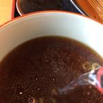 長寿庵 - 蕎麦湯を入れて