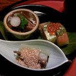 4571153 - 魚介のお造りと押し寿司