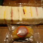 プロント - 一口サンドイッチとスイートポテト
