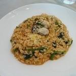 45711390 - 牡蠣とワタリガニと野菜の旨みで作ったリゾット