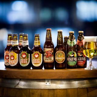 充実したラインナップの「クラフトビール」・「ワインリスト」