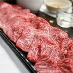 かがやき - 2015.12 焼肉(群馬A3トモサンカク、仙台牛A5シンシン、仙台牛A5カイノミ)