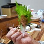 飲み食い処ゆるりや - カワハギのお刺身with肝