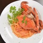 Osteria Gru - 料理写真:渡り蟹のトマトクリームパスタ