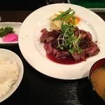 45715975 - ステーキ定食 お肉のみ大盛り