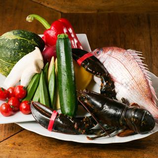 市場直送の鮮魚や旬の野菜を使用した本格イタリアン