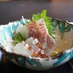 和み処 真 - 造りは、鱸と蛸です
