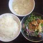 su-tsuxankyuiji-nushisenryourii-fu- - ライス 卵スープ ミニサラダ☆