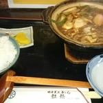45718963 - 味噌煮込みうどん定食¥1030-