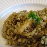 ラヴェンナ - ◆私は「鮑のリゾット(1800円:外税)を。 お米は絶妙なアルデンテ仕上げ。 薄くスライスした「鮑」も結構入っています。