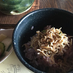 露瑚 - ジャコご飯と漬物