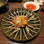 東京チャイニーズ 一凛 - 上海蟹の香箱蟹風、赤酢と生姜で1