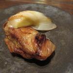 東京チャイニーズ 一凛 - 三陸産の牡蠣と下仁田葱の生姜炒め2
