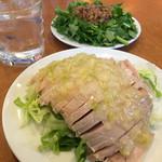 45730954 - 冷静の油淋鶏、葱油ソース、薄味