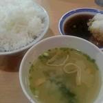 天ぷら えびす食堂 - ご飯は中でもかなり大盛りです