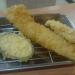 天ぷら えびす食堂 - あなご天&とり天