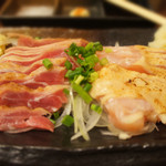 薩摩焼鶏酒場 とり魂 - 地鶏の刺身