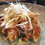 旬菜家庭料理なかよし - 若鶏の唐揚げネギ香味だれ定食(880円)