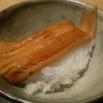 45732796 - 土鍋ご飯に炭火で焼いた穴子。メチャクチャ旨いです♪