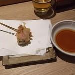 海鮮串天ぷら 中野家 - 胃に負担のかからない小振りな牡蠣ベーコン194円