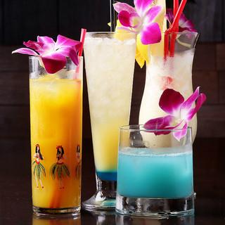 人気のハワイアンカクテルで乾杯!