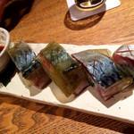 鯖の松前寿司 (4貫)