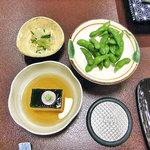 4574624 - 枝豆,卵豆腐,ゴマ和え