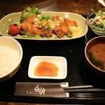 魚酔 - 料理写真:豚ロースカツおろしポン酢(日替りランチ)