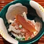 日本料理くりた - 柿の白和え,柿・蕪・胡瓜・唐墨