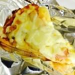 45747023 - ゴロゴロベーコンとポテトのピザ