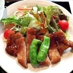 醤油料理 天忠 - 本日のお昼膳:豚肉の醬油ソース焼き